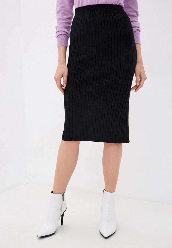 женская зауженные юбка hey look, черная