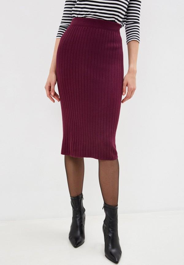 женская зауженные юбка hey look, бордовая