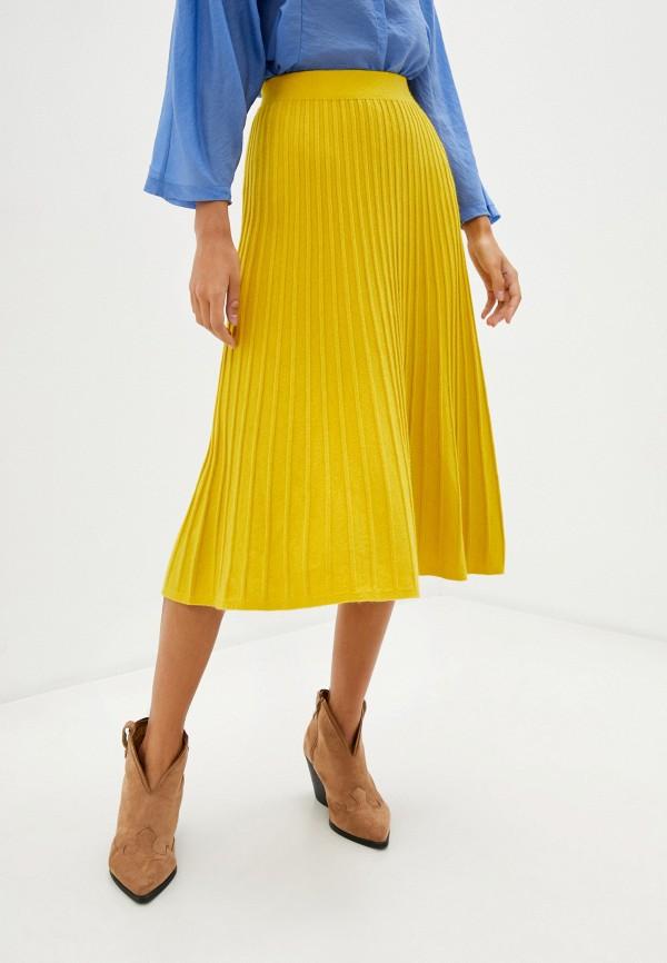 женская юбка hey look, желтая