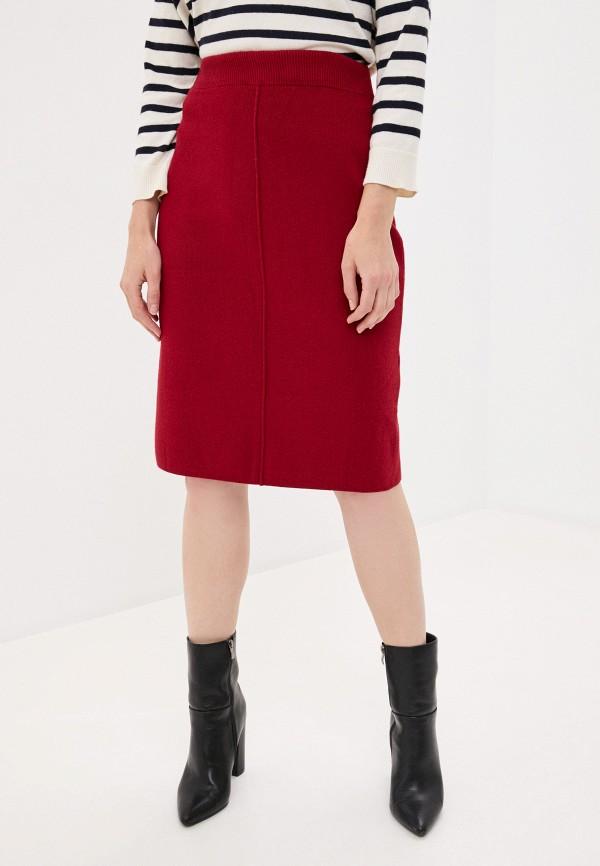 женская прямые юбка hey look, бордовая