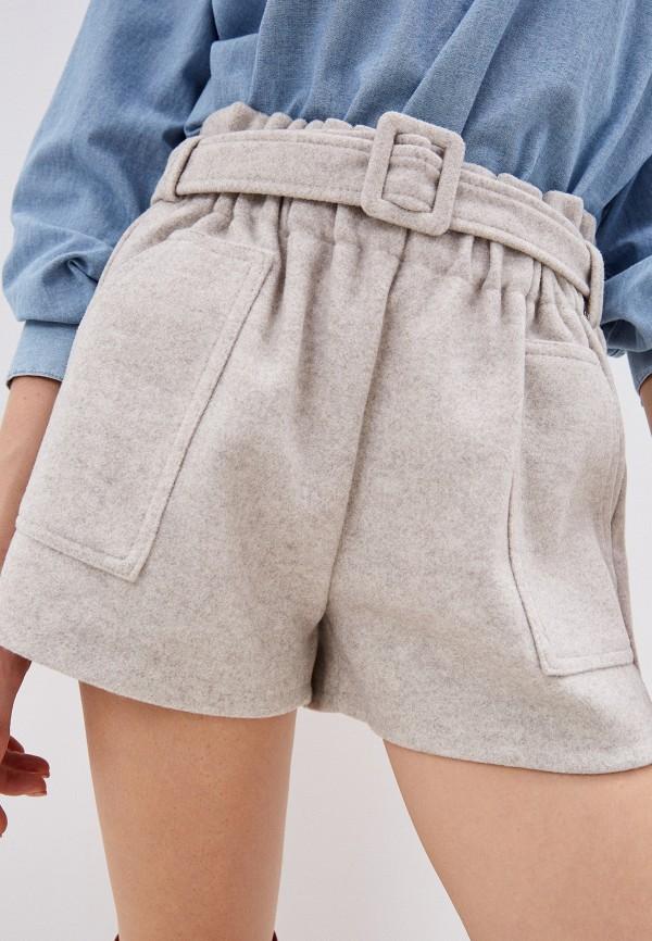 женские повседневные шорты hey look, бежевые