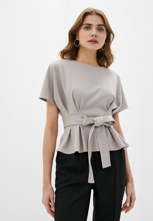 женская блузка hey look, бежевая