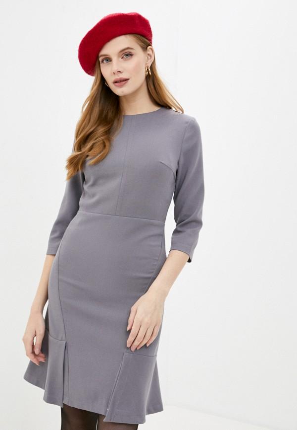 женское повседневные платье hey look, серое