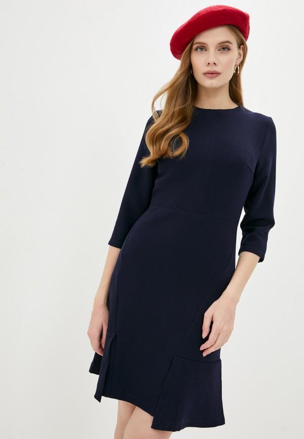 женское повседневные платье hey look, синее