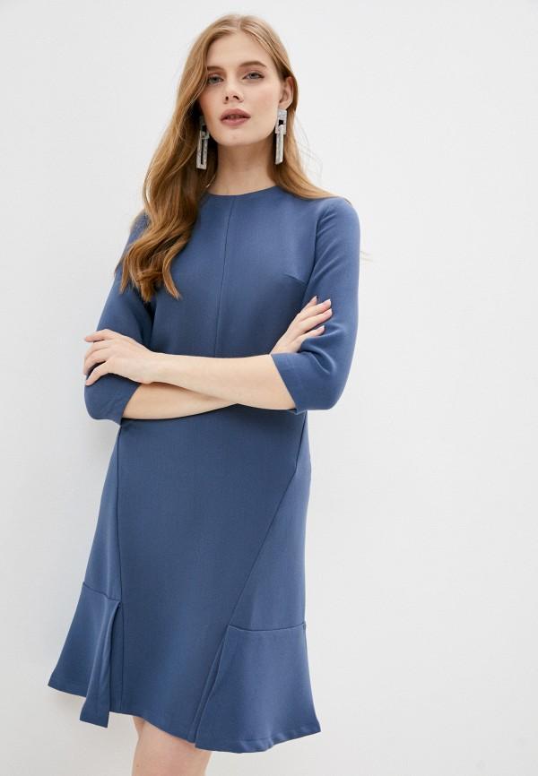 женское повседневные платье hey look, голубое