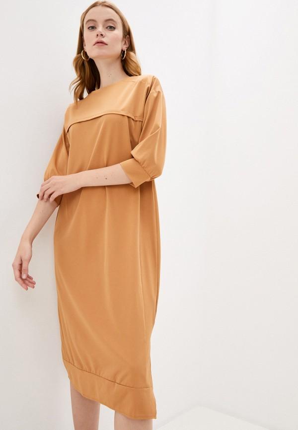 женское повседневные платье hey look, коричневое