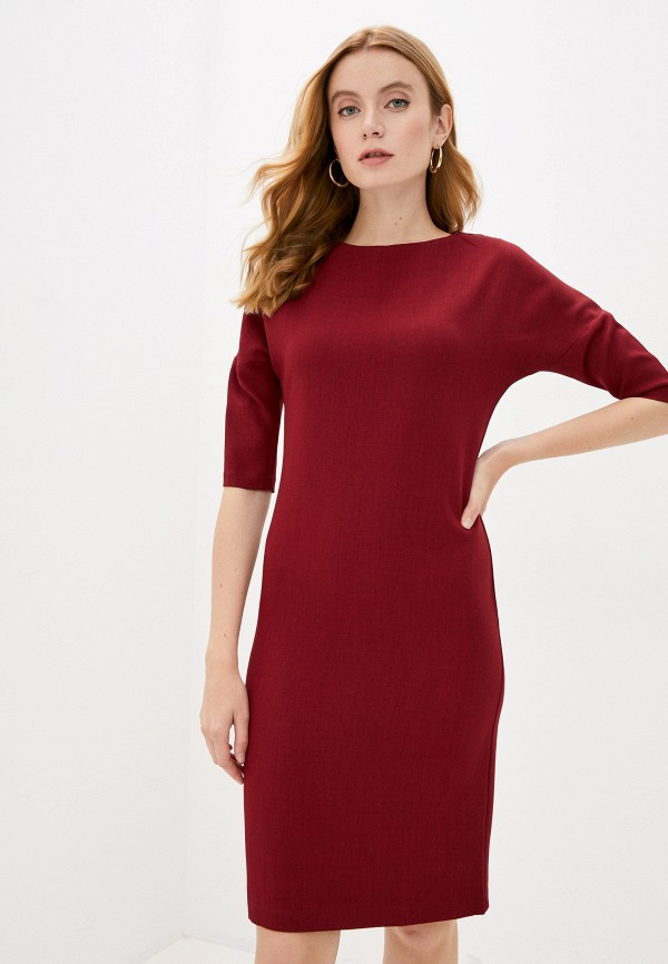 женское платье-футляр hey look, бордовое