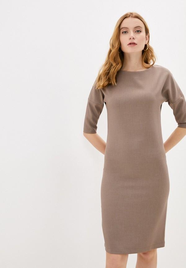 женское платье-футляр hey look, коричневое