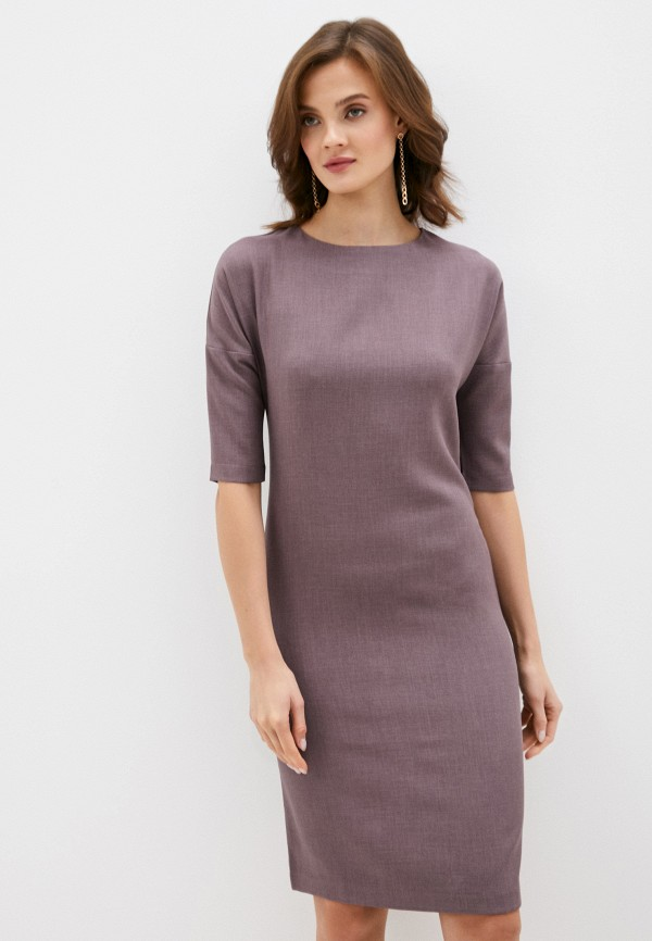женское платье-футляр hey look, фиолетовое