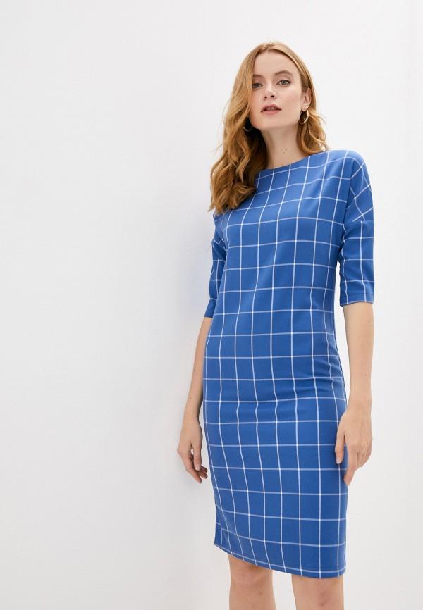 женское платье-футляр hey look, синее