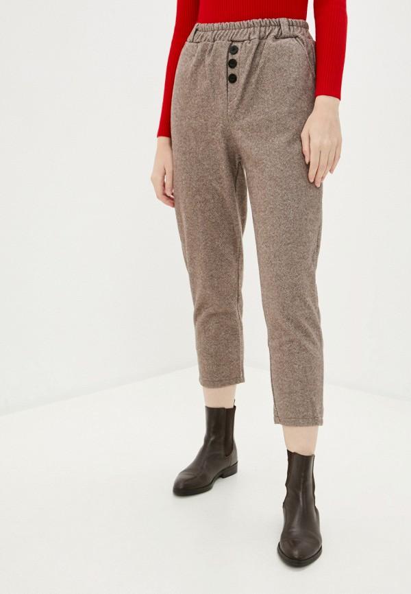 женские брюки hey look, коричневые