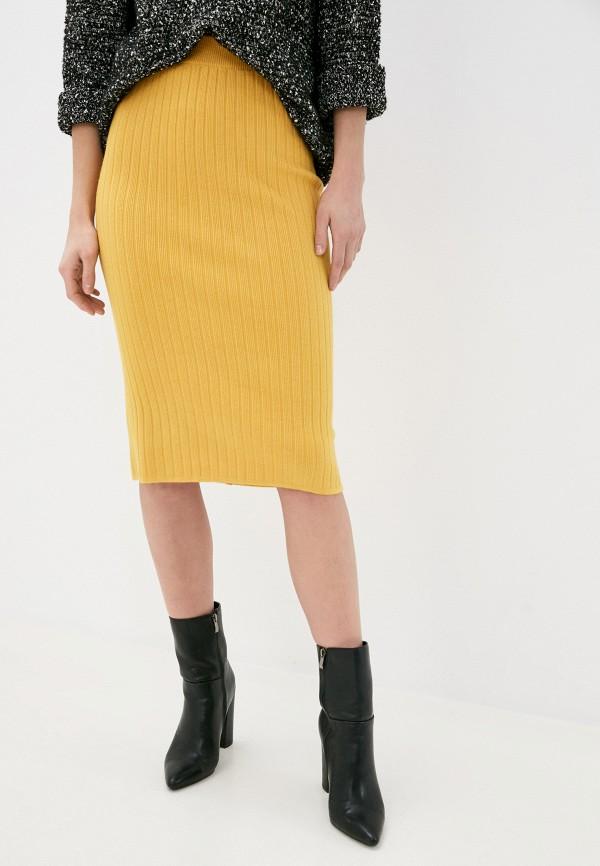 женская прямые юбка hey look, желтая
