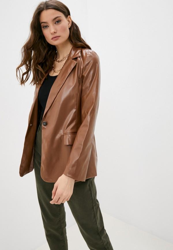 женский пиджак hey look, коричневый