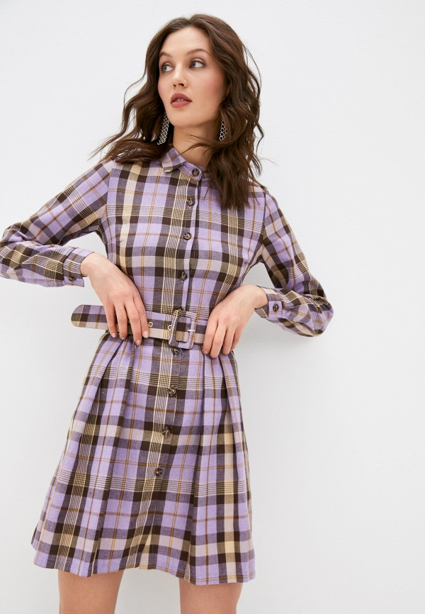 женское платье hey look, фиолетовое