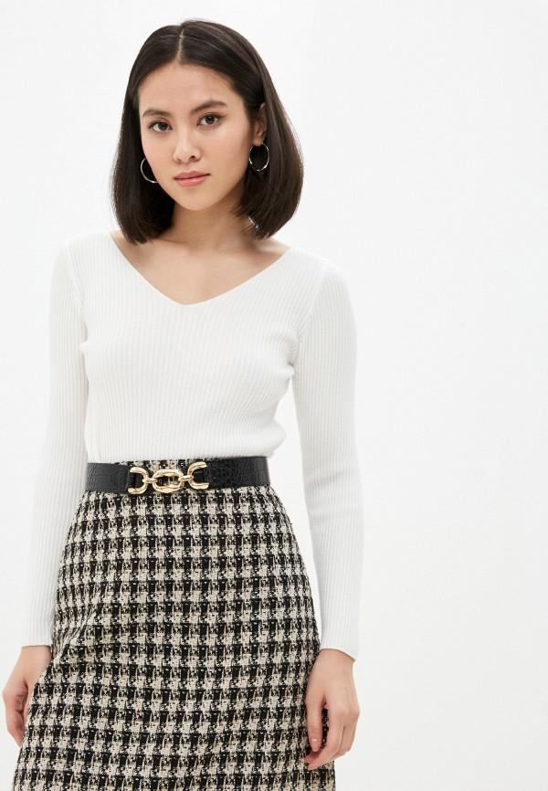 женский пуловер hey look, белый