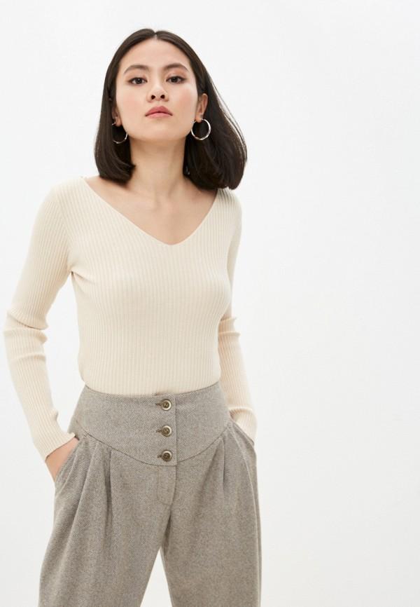 женский пуловер hey look, бежевый