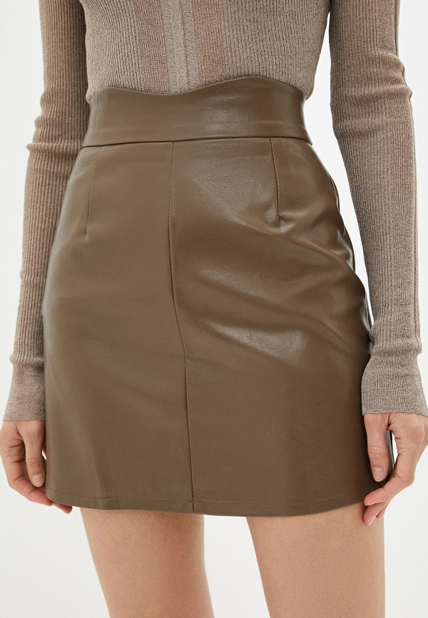 женская юбка hey look, коричневая