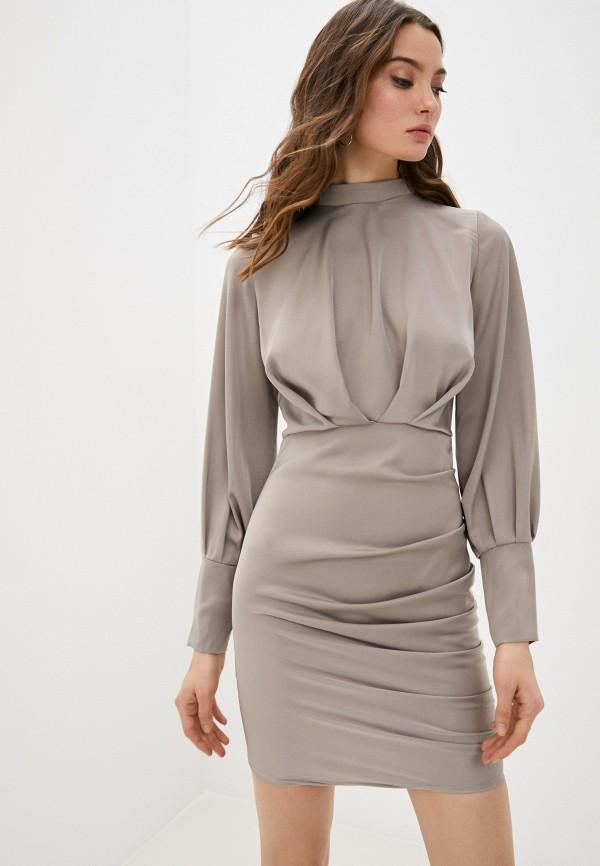 женское вечерние платье hey look, бежевое