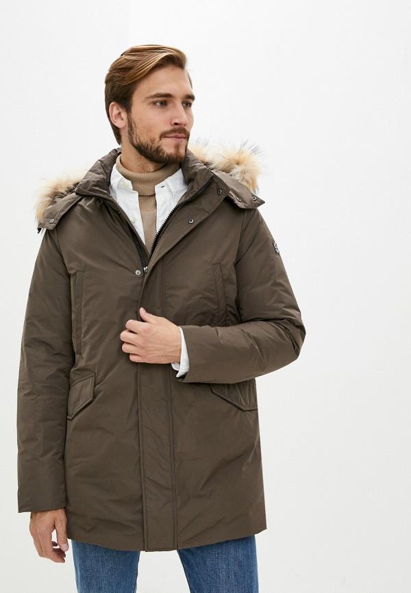 мужская куртка hetrego, коричневая
