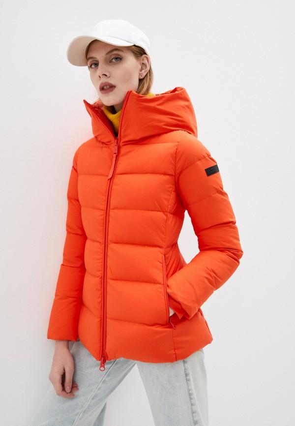 женский пуховик hetrego, оранжевый
