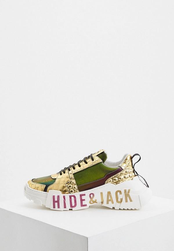 женские кроссовки hide & jack, хаки