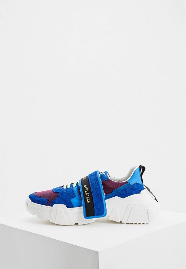 женские кроссовки hide & jack, синие