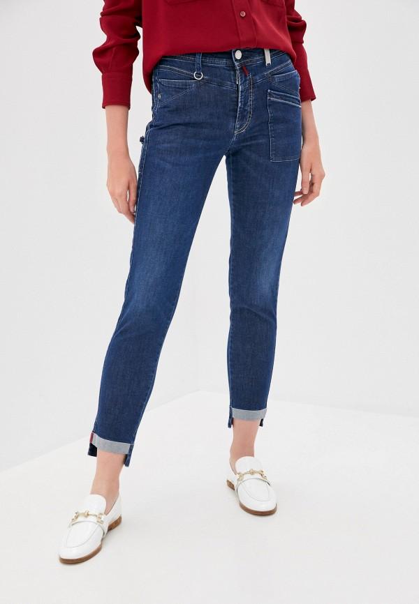 женские джинсы скинни high, синие