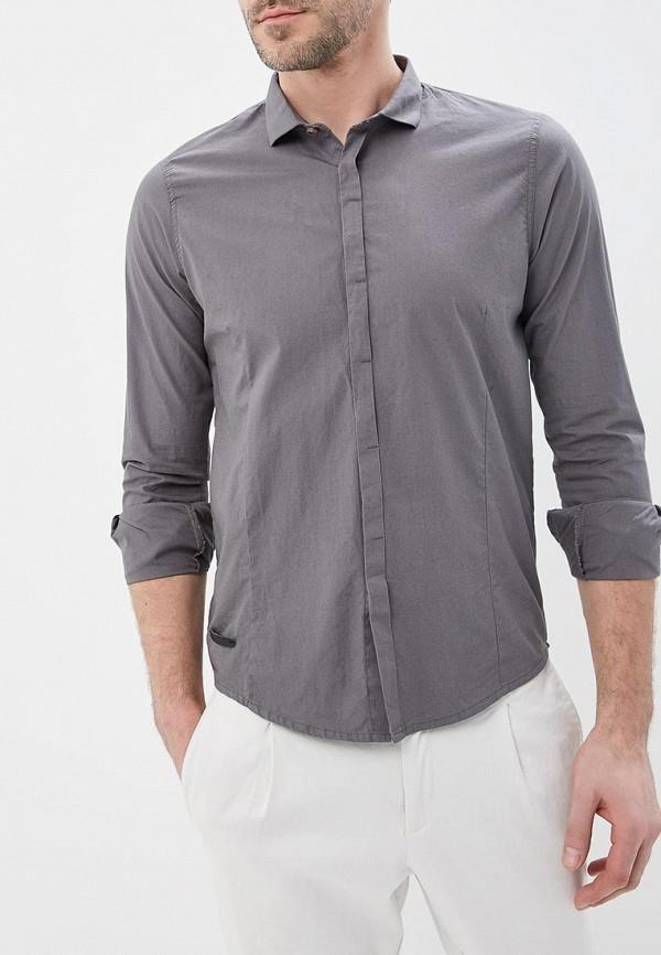 мужская рубашка с длинным рукавом hopenlife, серая