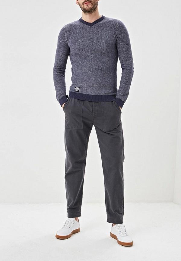Фото 2 - мужской пуловер Hopenlife синего цвета