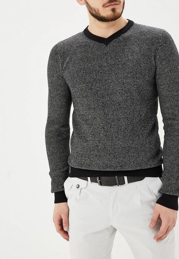 Фото - мужской пуловер Hopenlife серого цвета