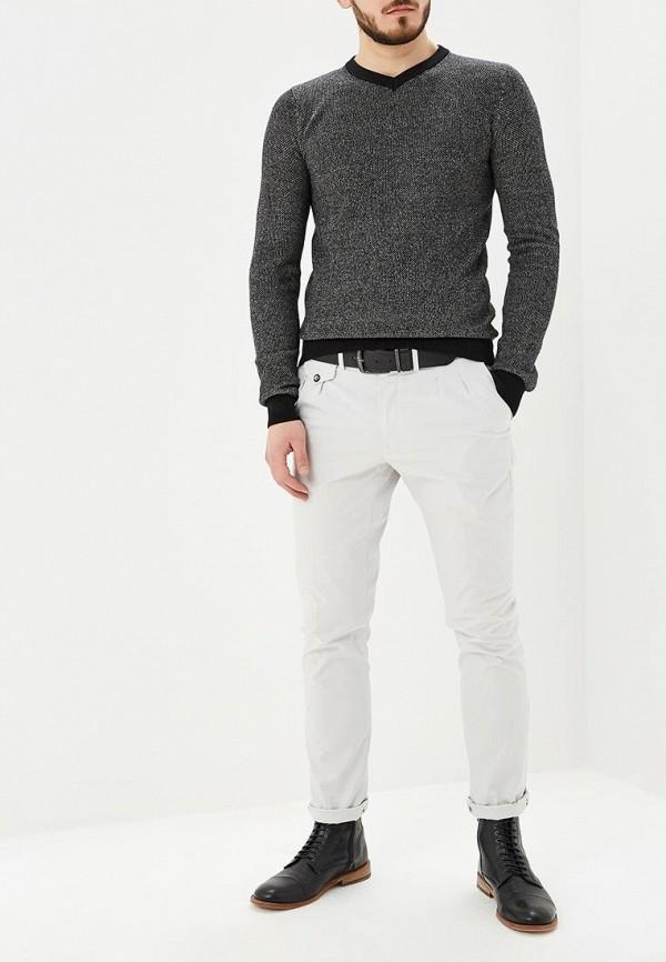 Фото 2 - мужской пуловер Hopenlife серого цвета