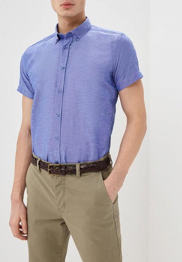 Фото - мужскую рубашку Hopenlife синего цвета