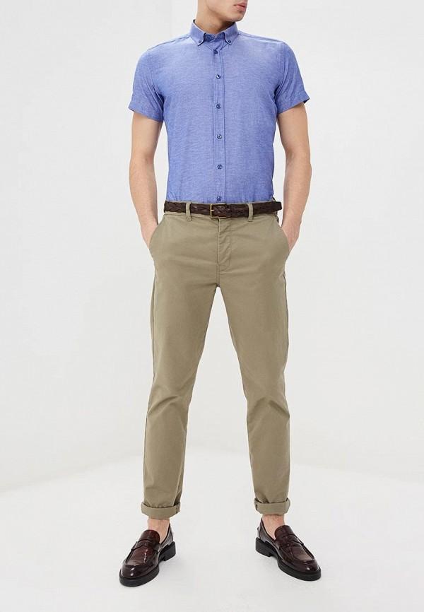 Фото 2 - мужскую рубашку Hopenlife синего цвета