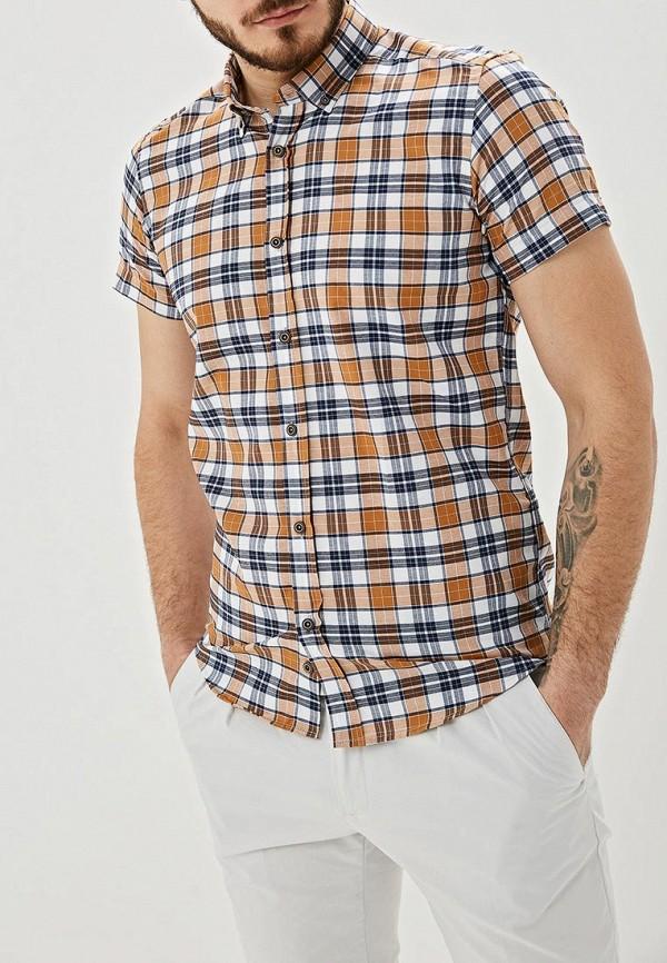 мужская рубашка с коротким рукавом hopenlife, бежевая