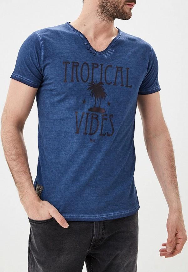Фото - мужскую футболку Hopenlife синего цвета