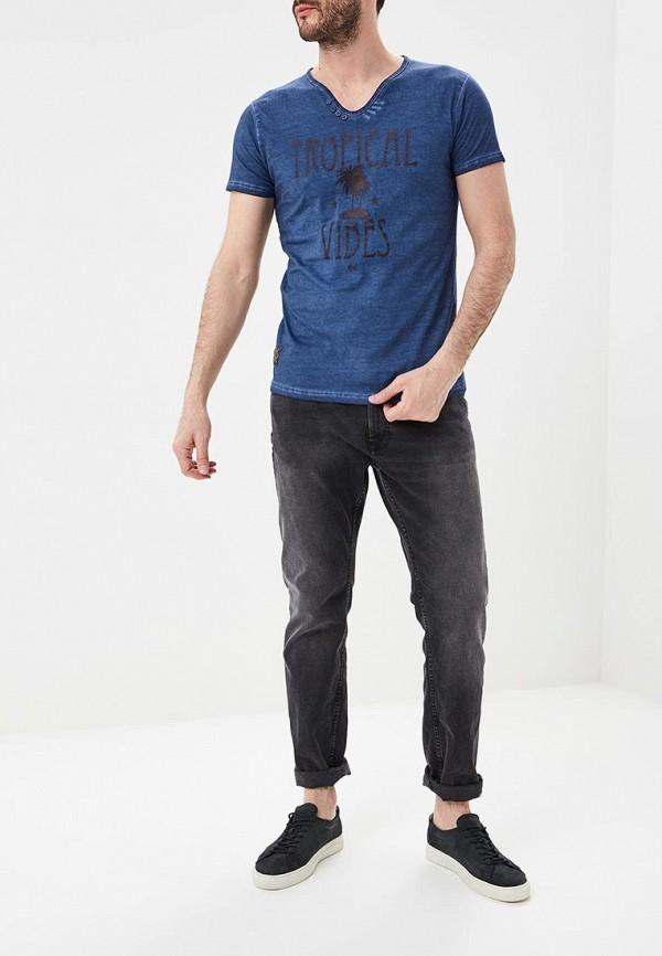 Фото 2 - мужскую футболку Hopenlife синего цвета