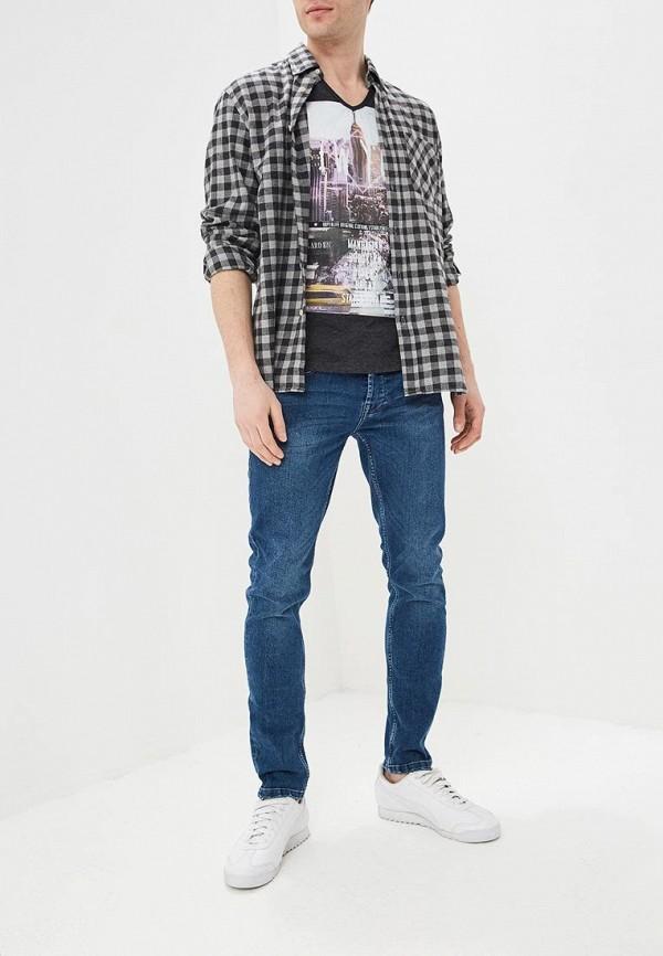 Фото 2 - мужскую футболку Hopenlife серого цвета