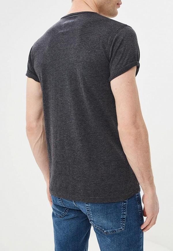 Фото 3 - мужскую футболку Hopenlife серого цвета