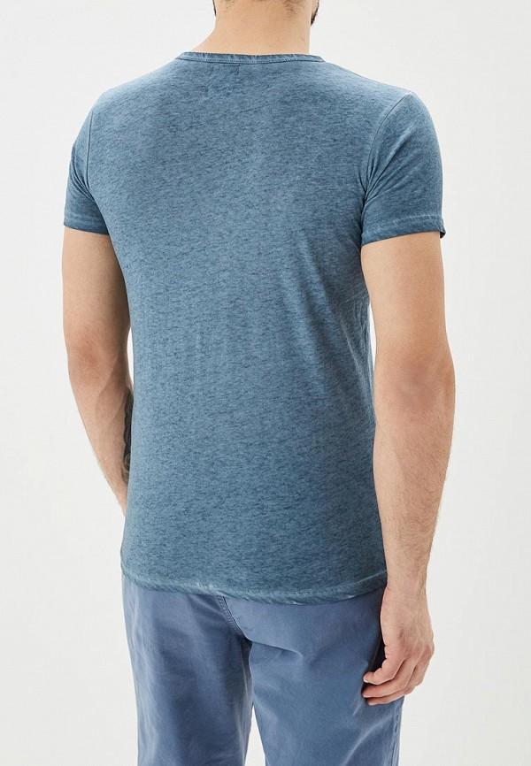 Фото 3 - мужскую футболку Hopenlife синего цвета