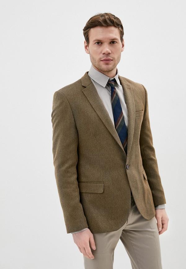 мужской пиджак hopenlife, коричневый
