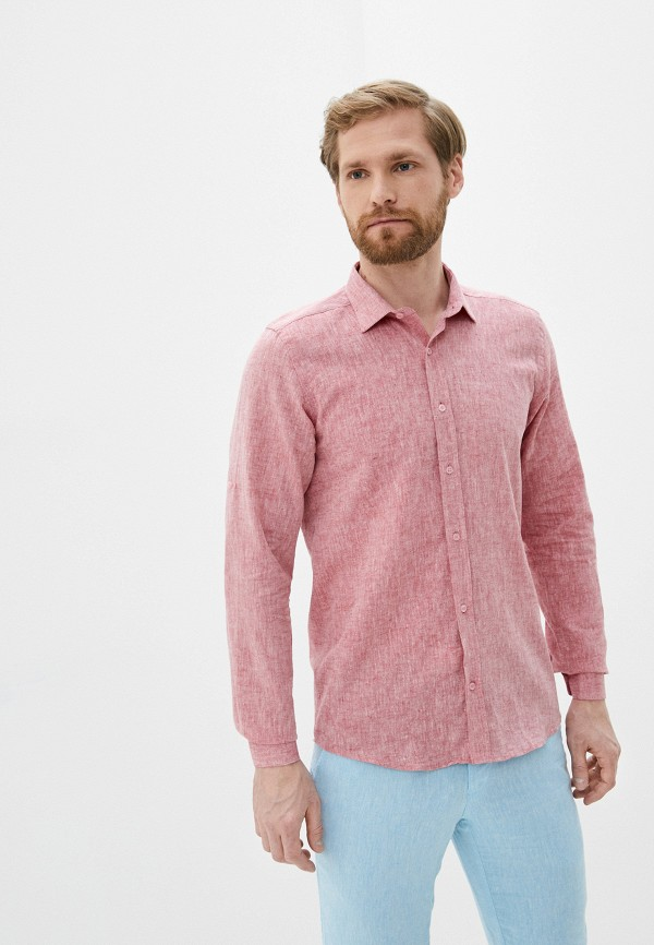 мужская рубашка с длинным рукавом hopenlife, бордовая