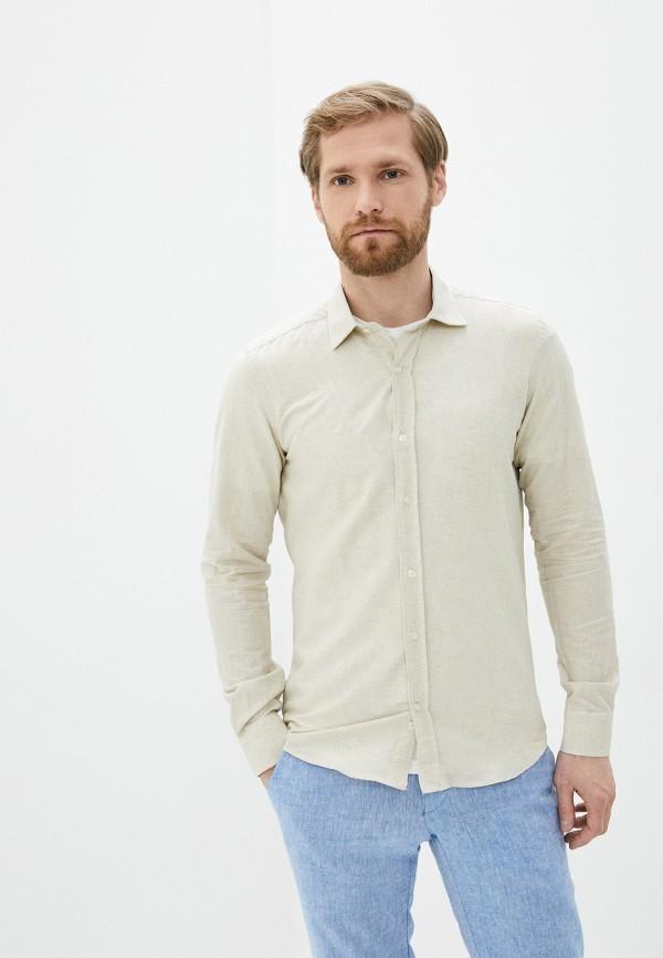 мужская рубашка с длинным рукавом hopenlife, бежевая