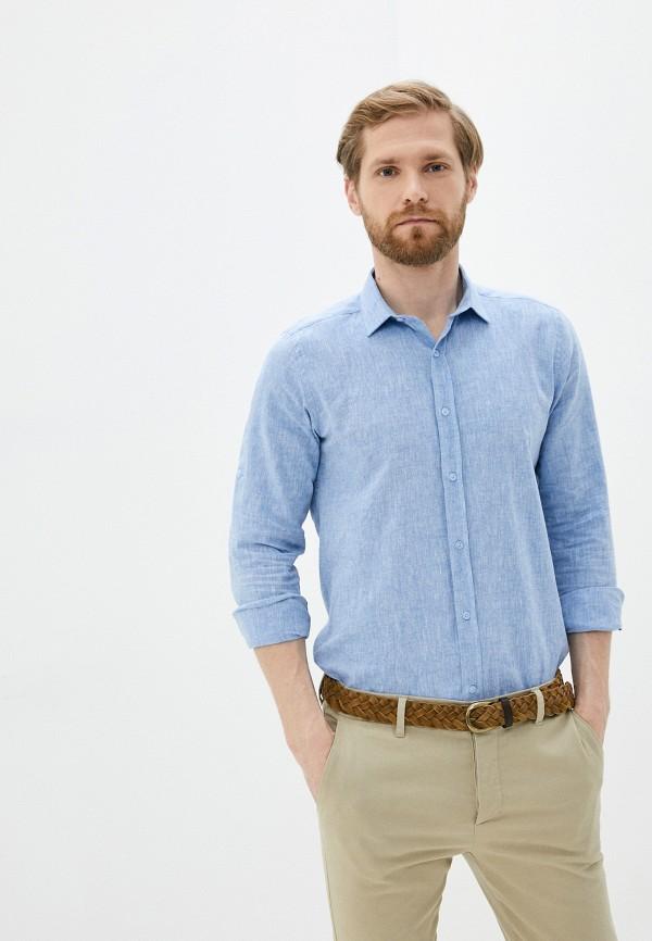 мужская рубашка с длинным рукавом hopenlife, синяя