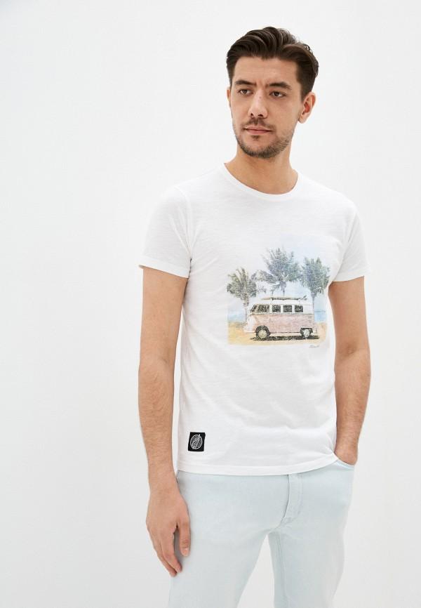 мужская футболка с коротким рукавом hopenlife, белая