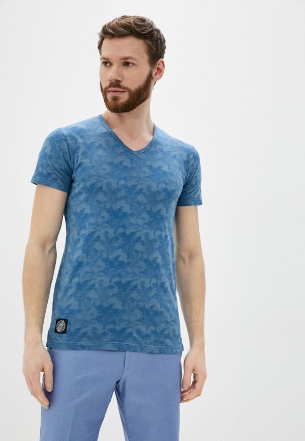 мужская футболка с коротким рукавом hopenlife, синяя