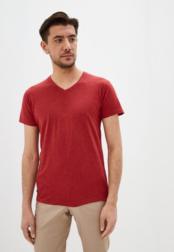 мужская футболка с коротким рукавом hopenlife, бордовая
