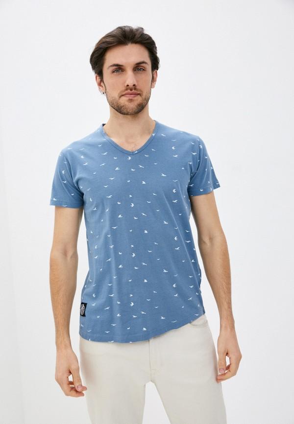 мужская футболка с коротким рукавом hopenlife, голубая