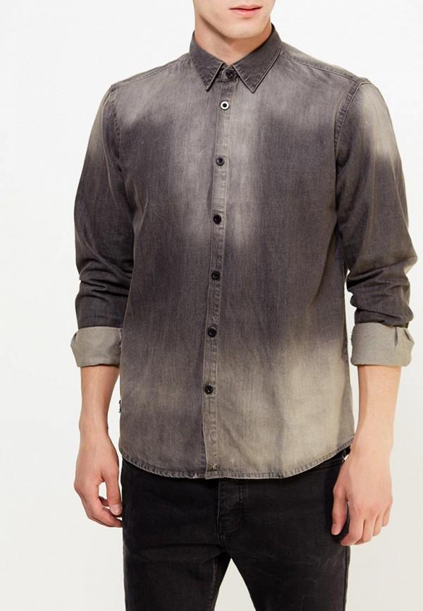 Купить Рубашка джинсовая Hopenlife, ho012emwgl60, серый, Осень-зима 2018/2019