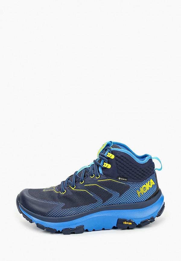 мужские ботинки hoka one one, синие