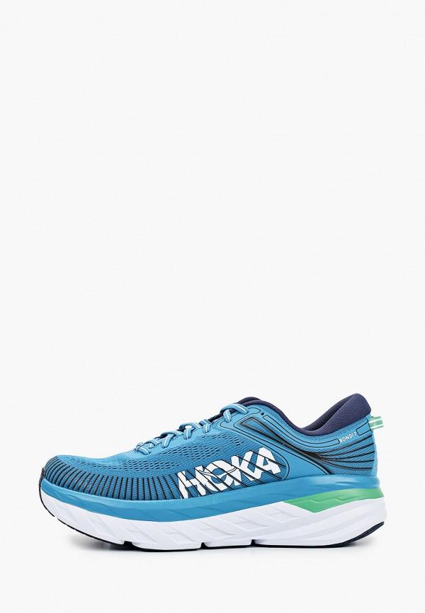 мужские кроссовки hoka one one, голубые